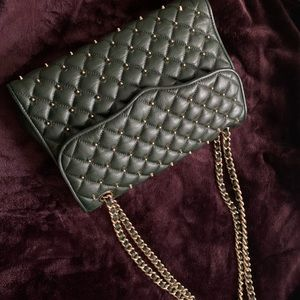 Rebecca Minkoff Quilted leather stud purse